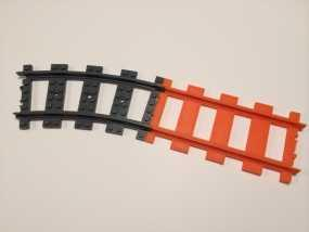 乐高火车车轨 3D模型