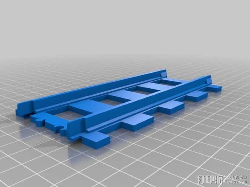 乐高火车车轨 3D模型  图2