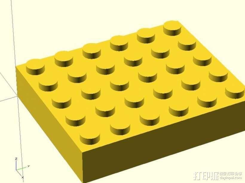 乐高方块 3D模型  图2