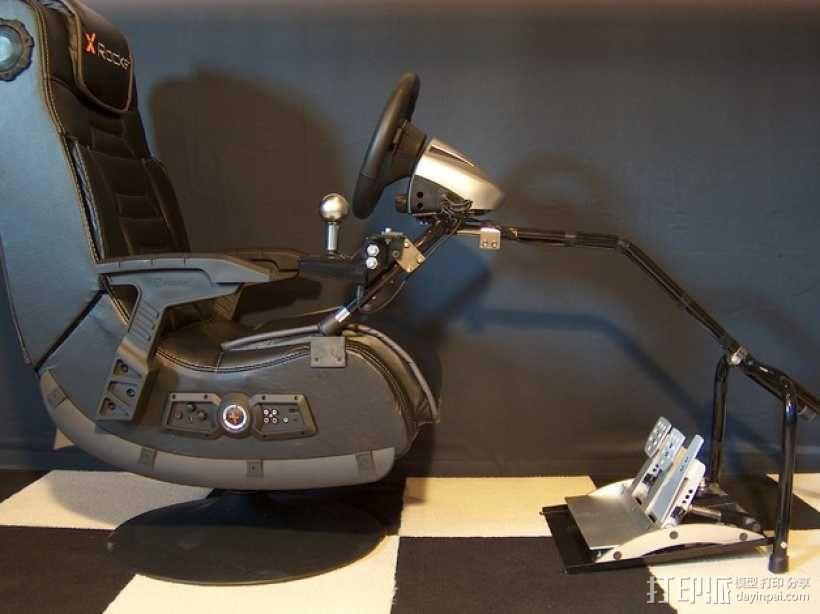 XRocker方向盘支架 3D模型  图1