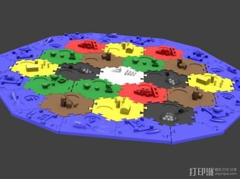 瓦片玩具 3D模型  图1