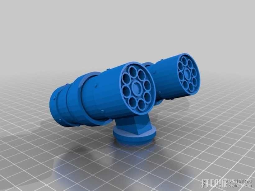 导弹发射台 3D模型  图1