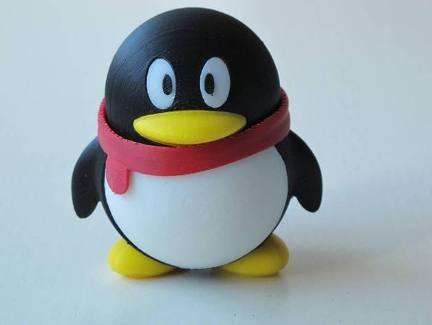腾讯企鹅 3D模型  图1