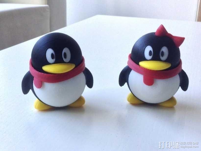 腾讯企鹅 3D模型  图2