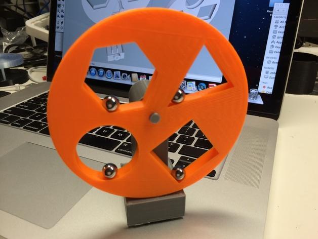 几何形转轮 3D模型  图1