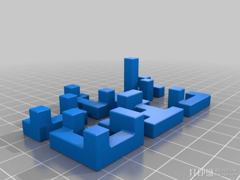 联锁拼图 3D模型  图3