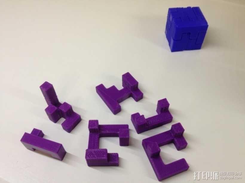 联锁拼图 3D模型  图2