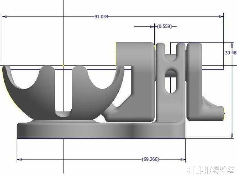 球面槽轮机构 3D模型  图8