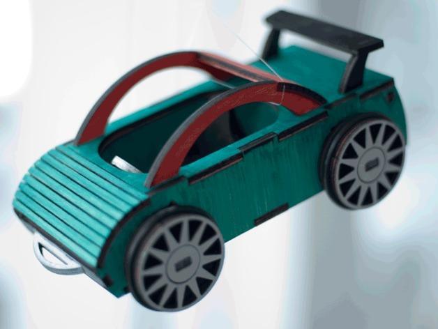 迷你跑车M1 3D模型  图3