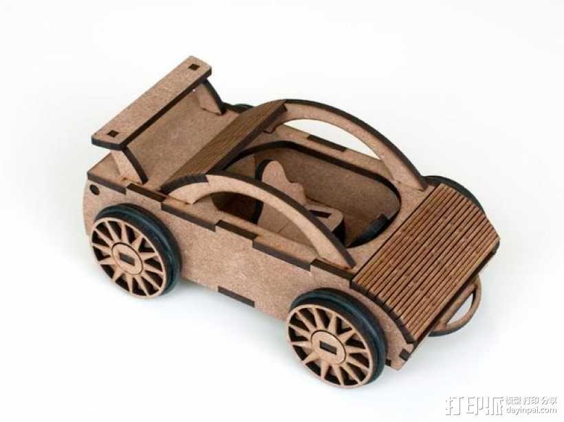 迷你跑车M1 3D模型  图1