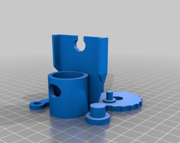 单缸发动机 3D模型  图2