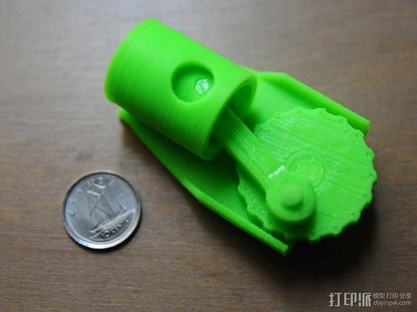 单缸发动机 3D模型  图1
