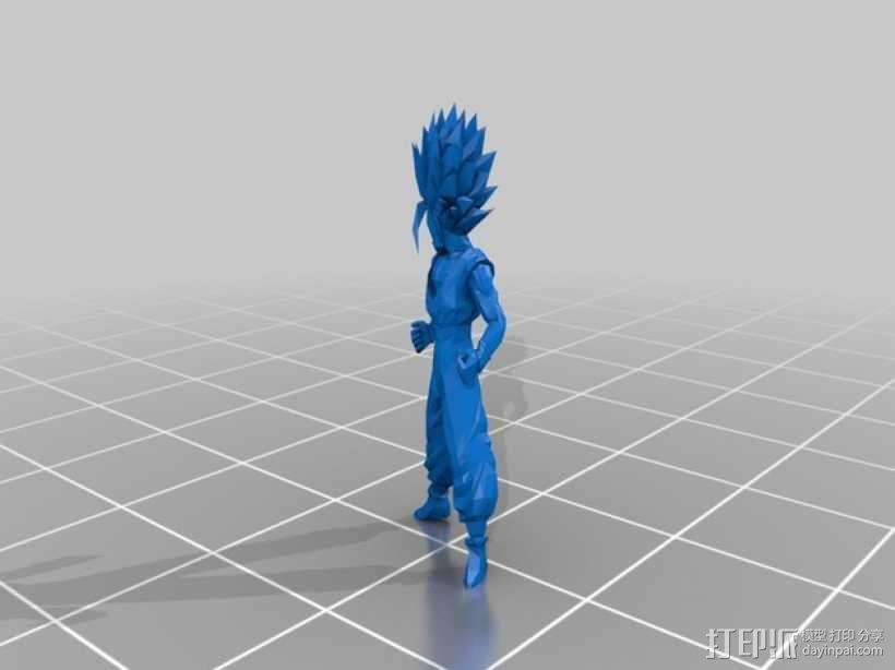 赛亚人 3D模型  图1