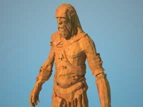 《上古轴卷5天际》巨人 3D模型