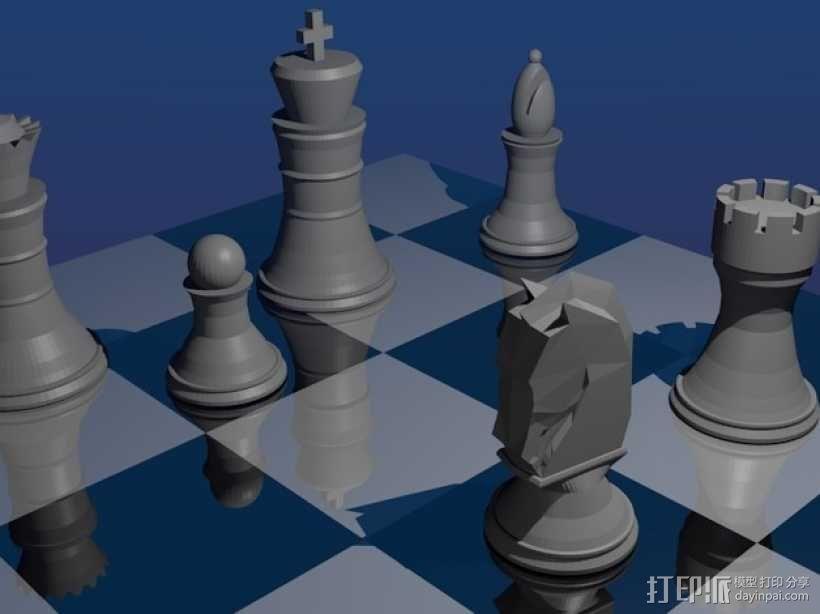 象棋 3D模型  图1