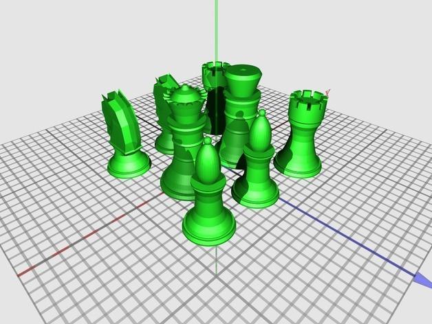 象棋 3D模型  图8