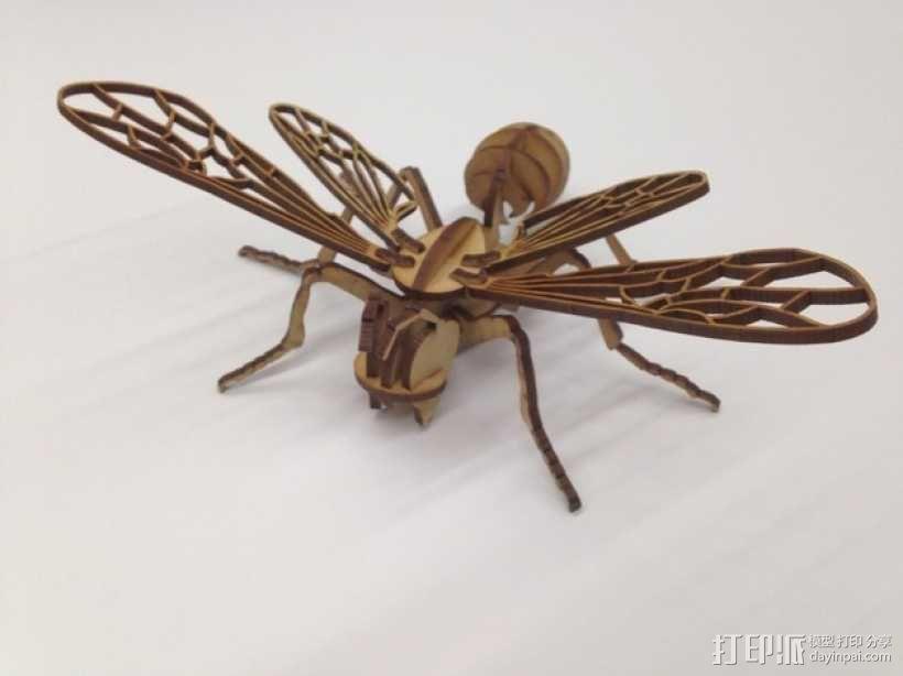 蜜蜂拼图 3D模型  图1