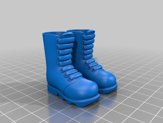 迷你靴 3D模型  图2