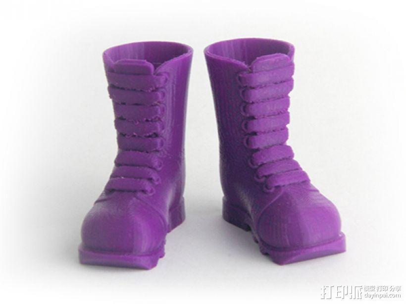 迷你靴 3D模型  图1