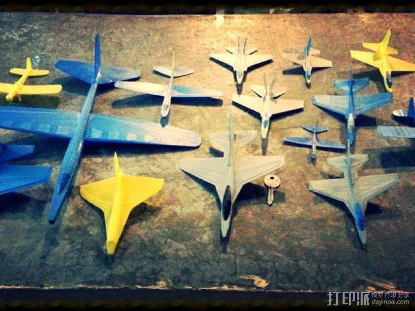 塑料滑翔机 3D模型  图1