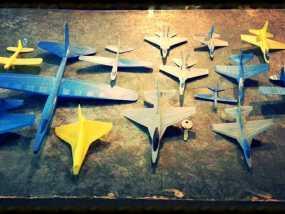 塑料滑翔机 3D模型