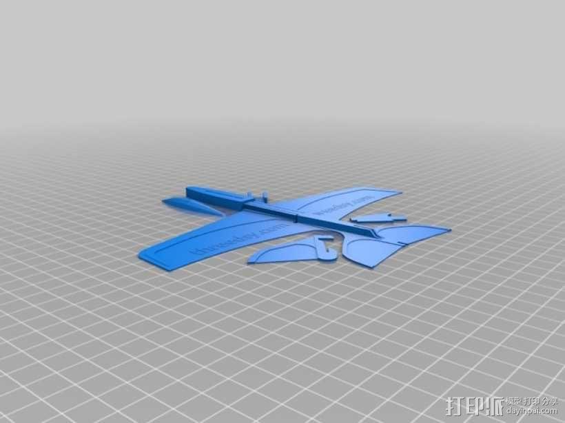 塑料滑翔机 3D模型  图4