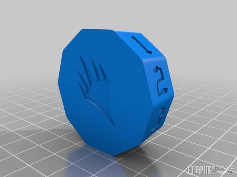 MTG计数器 3D模型  图4