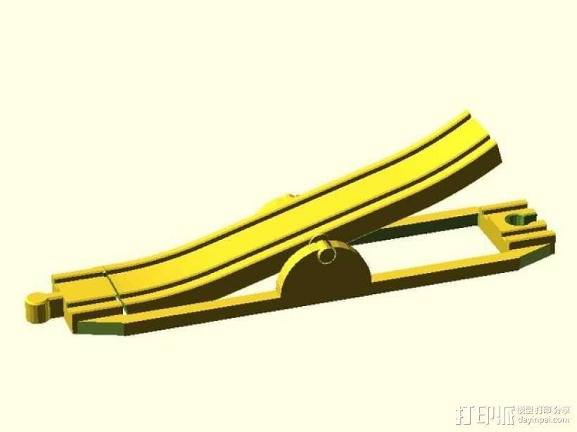 玩具火车坡道 3D模型  图1