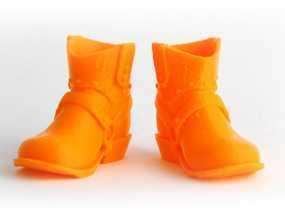 牛仔靴 3D模型