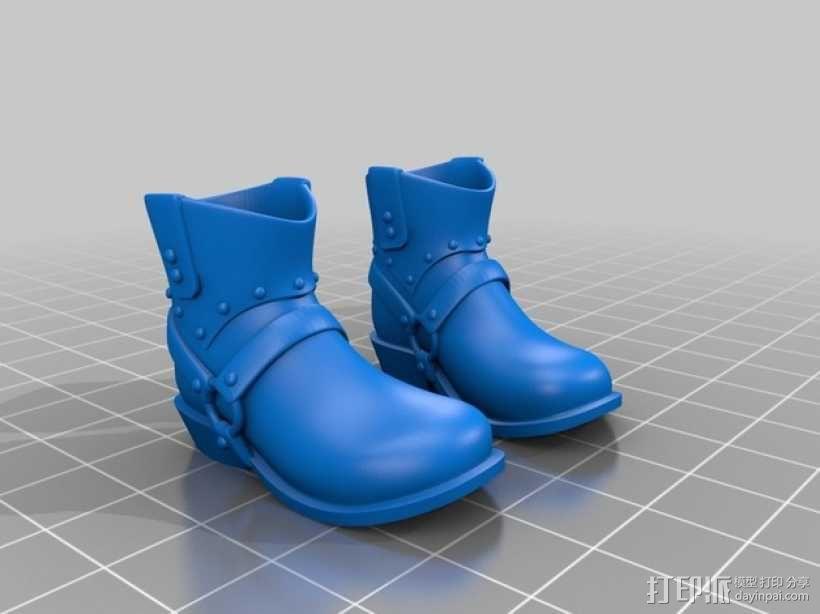 牛仔靴 3D模型  图2