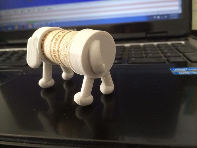 软木小狗 3D模型  图3