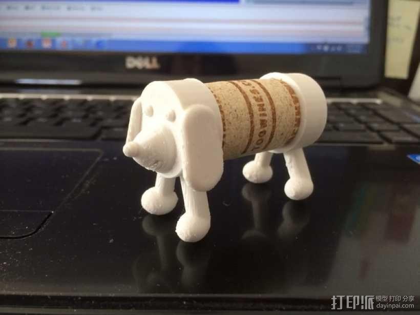 软木小狗 3D模型  图1