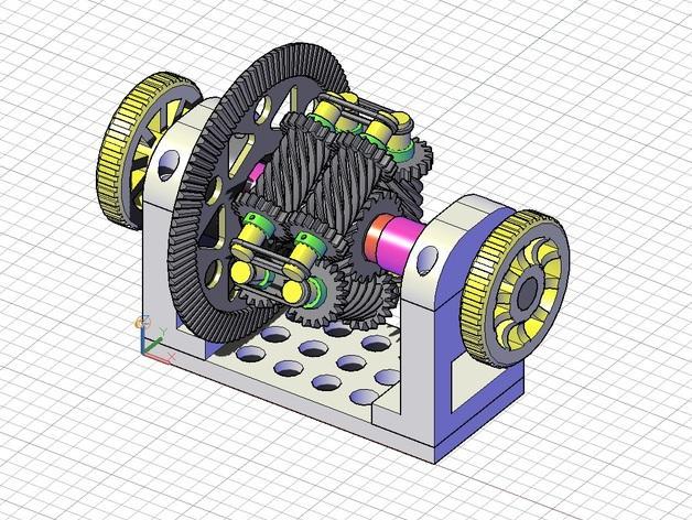 防滑差速器 3D模型  图1
