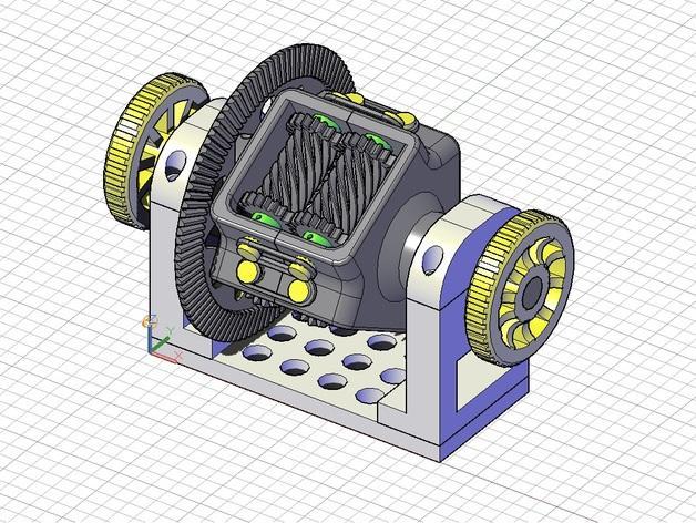 防滑差速器 3D模型  图2