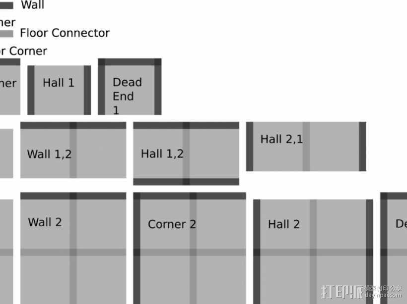 可定制的地牢地形图 3D模型  图5