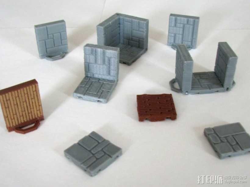 可定制的地牢地形图 3D模型  图4