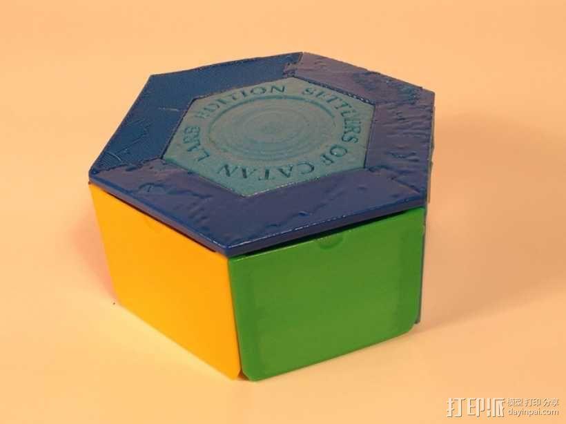 六边形储物箱 3D模型  图1