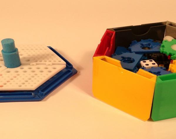 六边形储物箱 3D模型  图2