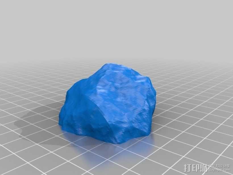 微型小行星 3D模型  图1