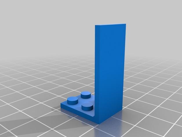 乐高玩偶站架 3D模型  图2