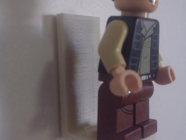 乐高玩偶站架 3D模型  图1
