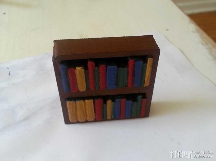 迷你书架 3D模型  图1
