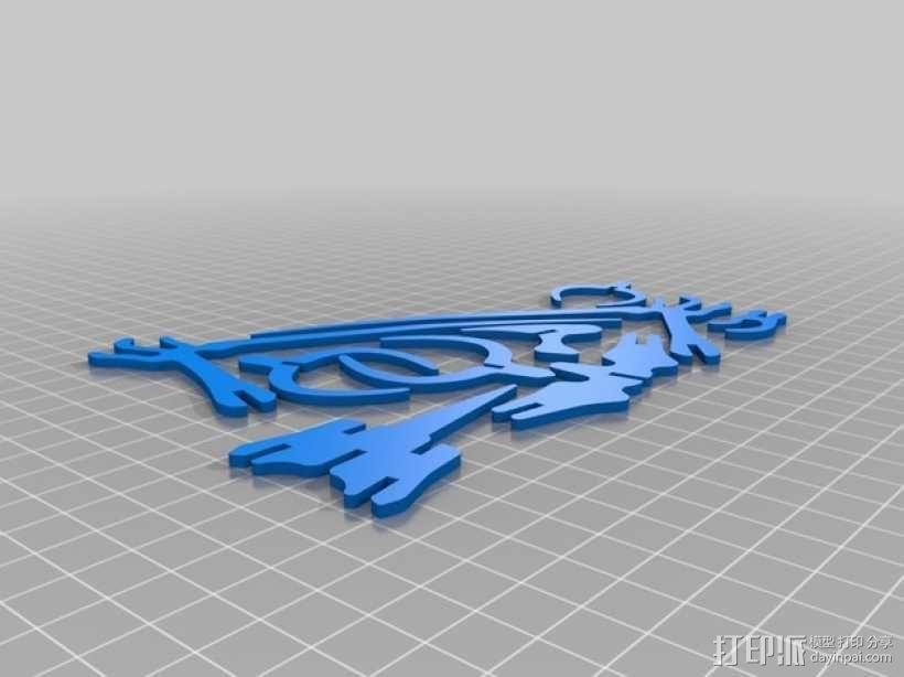 恐龙骨架模型 3D模型  图3