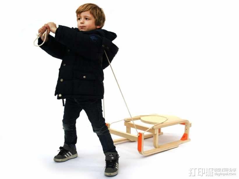 DIY雪橇 3D模型  图2