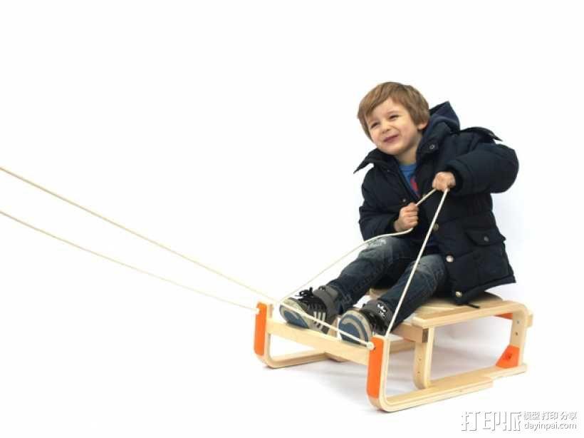 DIY雪橇 3D模型  图1