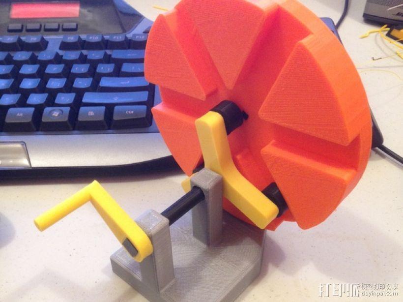滚筒齿轮减速器 3D模型  图1