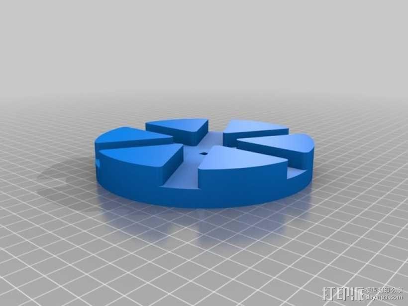 滚筒齿轮减速器 3D模型  图6