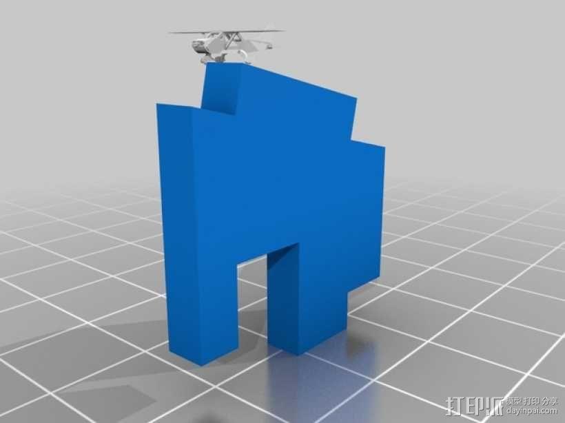 赛斯纳飞机 3D模型  图2