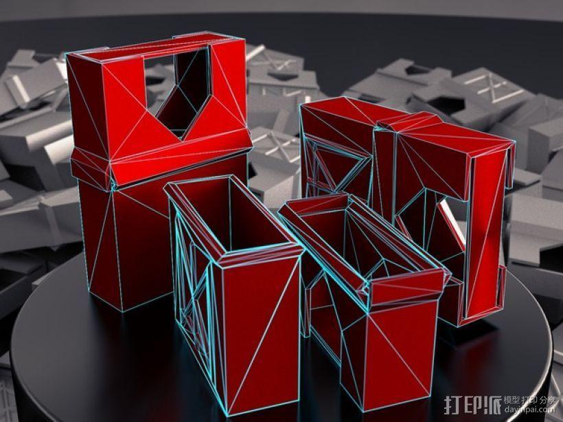定制化卡片盒 3D模型  图1