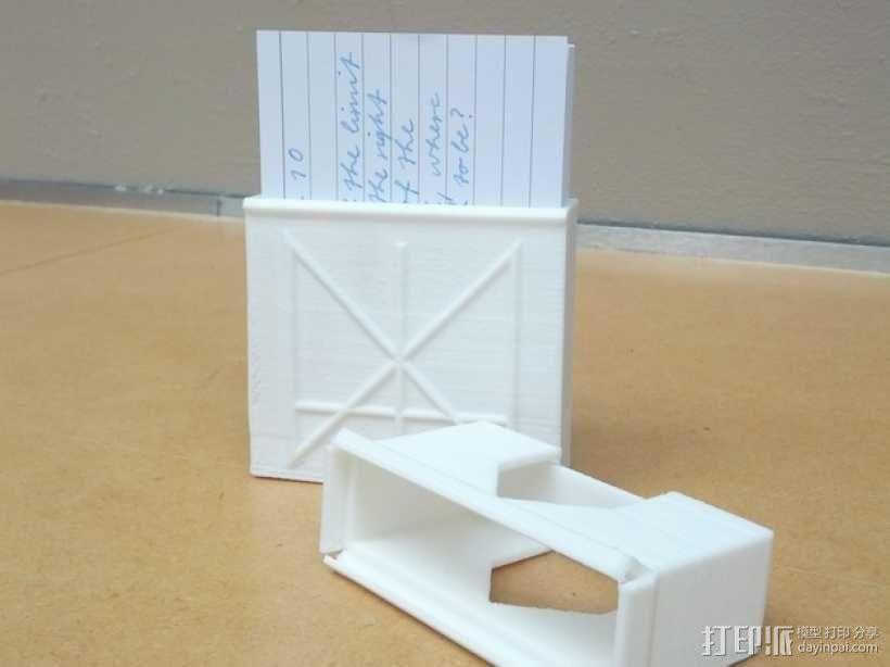 定制化卡片盒 3D模型  图3